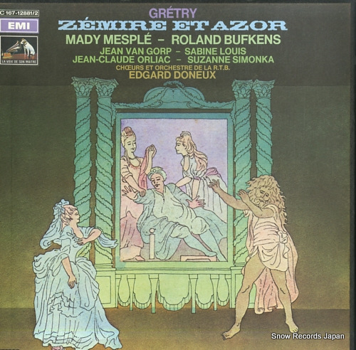 DONEUX, EDGARD gretry; zemire et azor 2C167-12881/2 - front cover