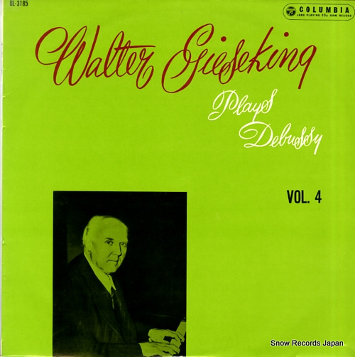 GIESEKING, WALTER walter gieseking plays debussy vol.4 OL-3185 - front cover