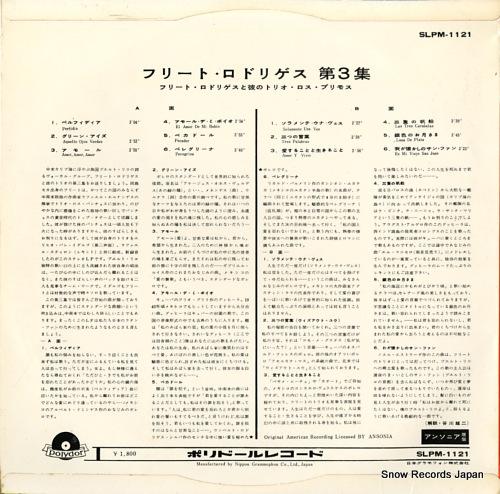 RODRIGUEZ, JULITO julito rodriguez y su trio vol.3 SLPM-1121 - back cover