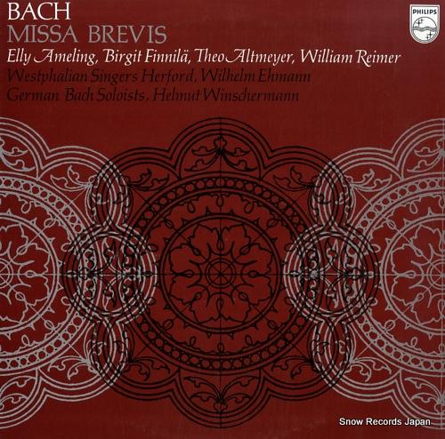 WINSCHERMANN, HELMUT bach; missa brevis 13PC-302 - front cover