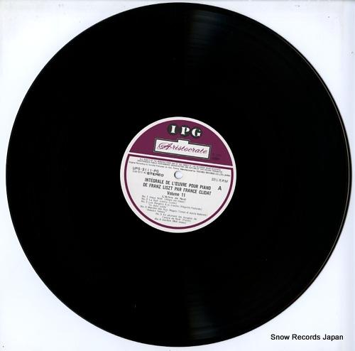 CLIDAT, FRANCE integrale de l'oeuvre pour piano de franz liszt par france clidat volume 11 UPS-3111-PG - disc