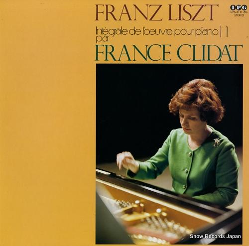 CLIDAT, FRANCE integrale de l'oeuvre pour piano de franz liszt par france clidat volume 11 UPS-3111-PG - front cover