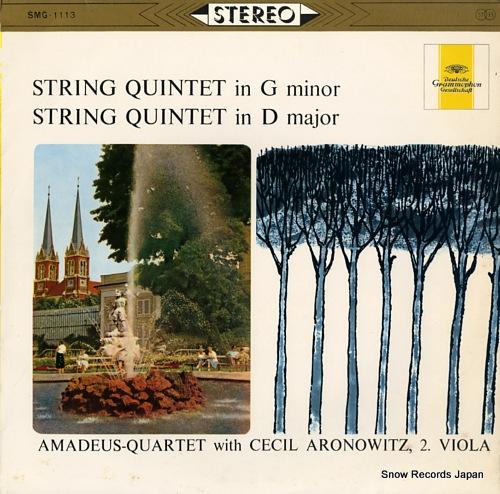 AMADEUS QUARTET mozart; string quintet in g minor / string quintet in d major SMG-1113 - front cover