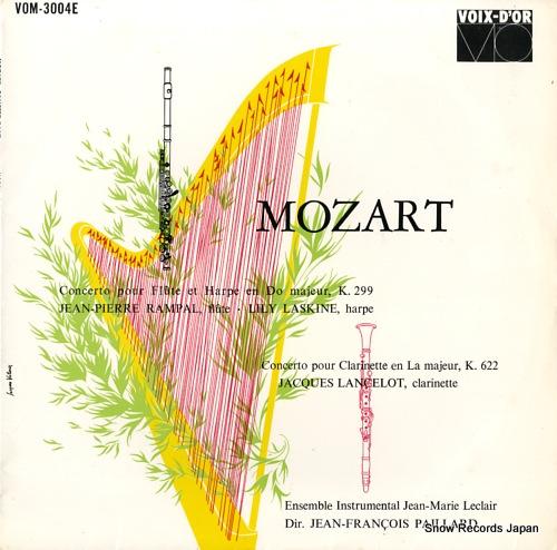 PAILLARD, JEAN-FRANCOIS mozart; concerto pour flute et harpe en do majeur, k.299 VOM-3004E - front cover