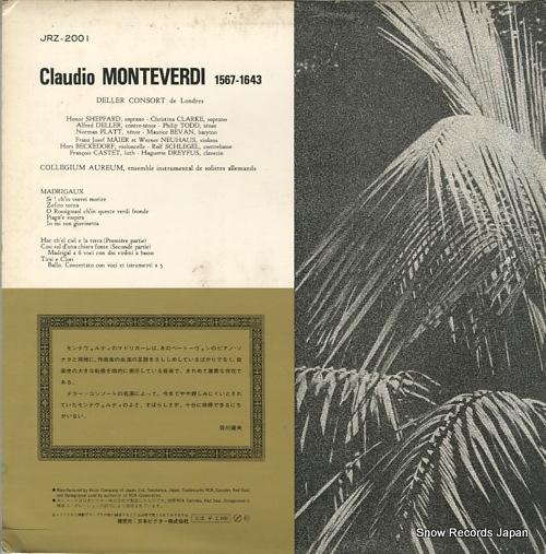 DELLER CONSORT DE LONDRES claudio montevedi JRZ-2001 - back cover