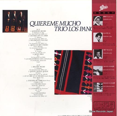 TRIO LOS PANCHOS quiereme mucho 28.3P-357 - back cover
