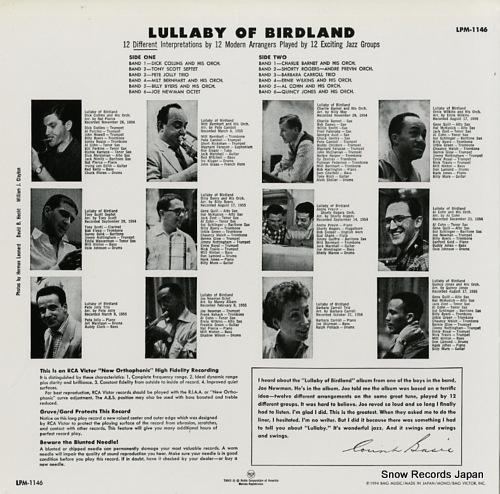 V/A lullaby of birdland LPM-1146 - back cover