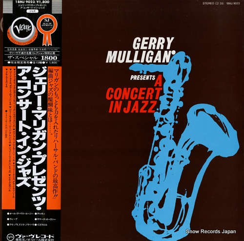 MULLIGAN, GERRY gerry mulligan presents a concert in jazz 18MJ9023 - front cover
