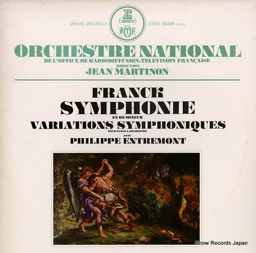 MARTINON, JEAN franck; symphonie en re mineur ERA-2099 - front cover