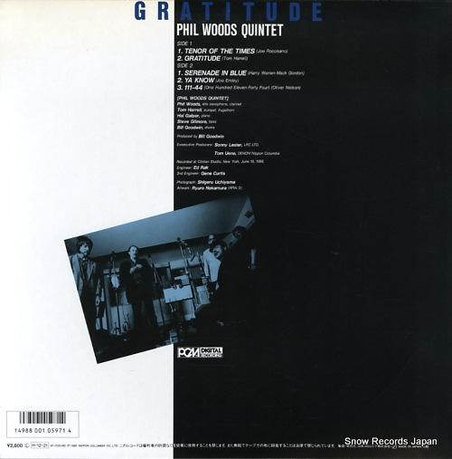 WOODS, PHIL gratitude YF-7125-ND - back cover