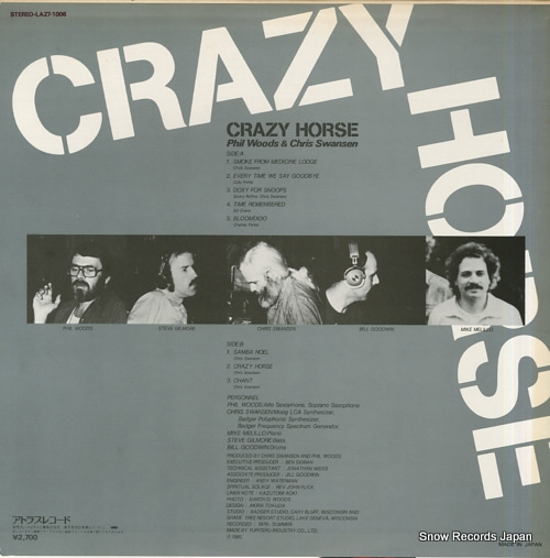 WOODS, PHIL, AND CHRIS SWANSEN crazy horse LA27-1006 - back cover