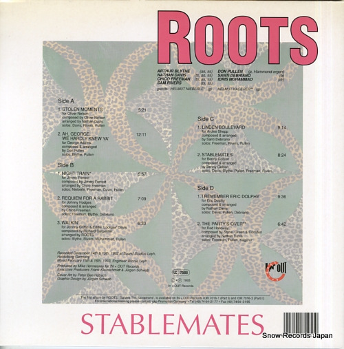 ROOTS stablemates IOR7021-1 - back cover