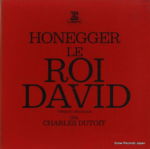 DUTOIT, CHARLES honegger; le roi david (version originale) STU70667/668 - front cover