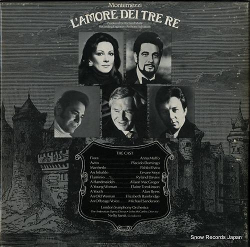 SANTI, NELLO montemezzi; l'amore dei tre re ARL2-1945 - back cover
