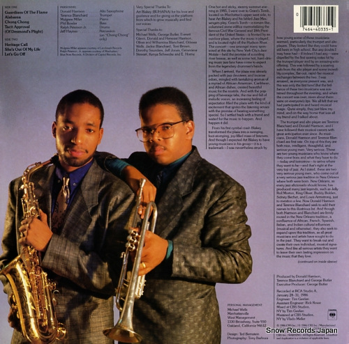 HARRISON, DONALD, AND TERENCE BLANCHARD nascence C40335 - back cover