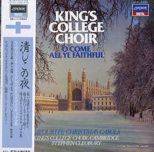 CLEOBURY, STEPHEN king's college choir L28C-1819 - front cover