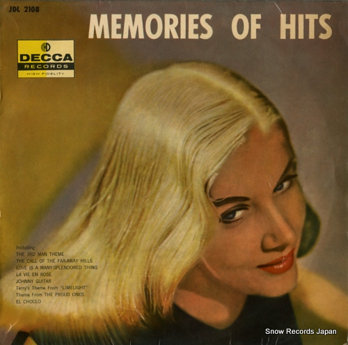V/A memories of hits JDL-2108 - front cover