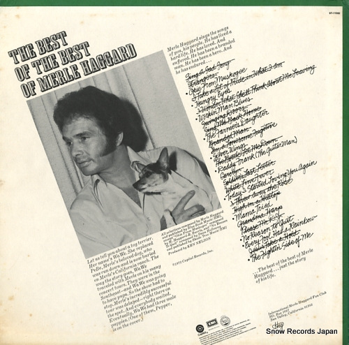 HAGGARD, MERLE the best of the best of merle haggard ST-11082 - back cover