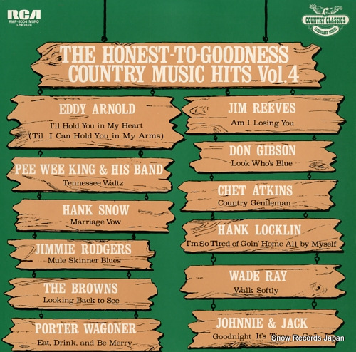 V/A the honest-to-goodness country music hits vol.4 RMP-5004 - front cover