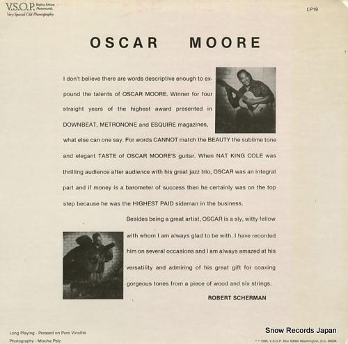 MOORE, OSCAR oscar moore quartet V.S.O.P.34 - back cover