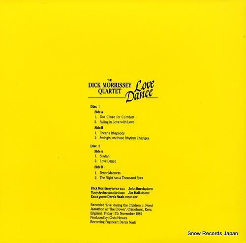 MORRISSEY, DICK love dance NCSP96-02 - back cover