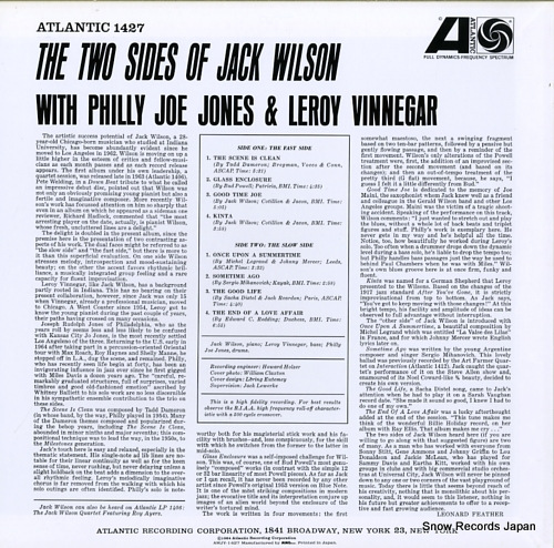WILSON, JACK the two sides of jack wilson AMJY-1427 - back cover