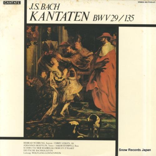 GONNENWEIN, WOLFGANG bach; kantaten bwv29 / 135 OC-7233-KT - front cover