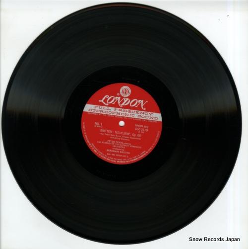 BRITTEN, BENJAMIN britten; nocturne, four sea interludes and passacaglia SLC2179 - disc