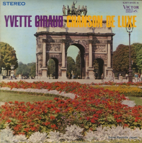 GIRAUD, YVETTE chanson de luxe SJET-9105-6 - front cover