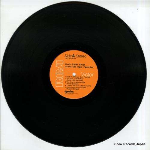 SNOW, HANK hank snow sings grand ole opry favorites APL1-0162 - disc