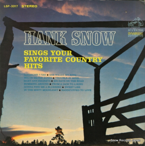 SNOW, HANK sings your favorite country hits LSP-3317 - front cover