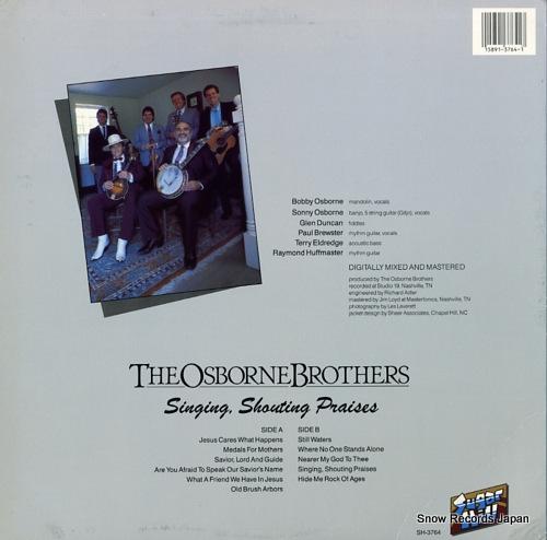 OSBORNE BROTHERS, THE singing, shouting praises SH-3764 - back cover