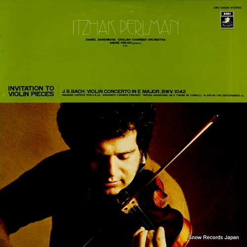 PERLMAN, ITZHAK invitation to violin pieces EAC-35006 - front cover
