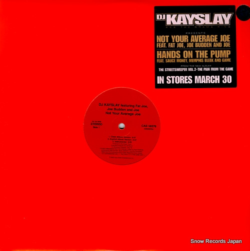 DJ KAYSLAY not your average joe / hands on the pump CAS58376 - front cover