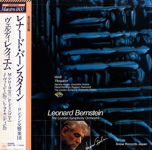 BERNSTEIN, LEONARD verdi; repuiem 36AC730-1 - front cover