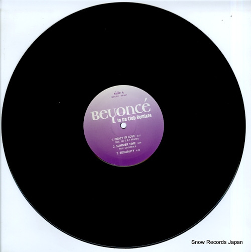BEYONCE in da club remixes BEYLP01 - disc