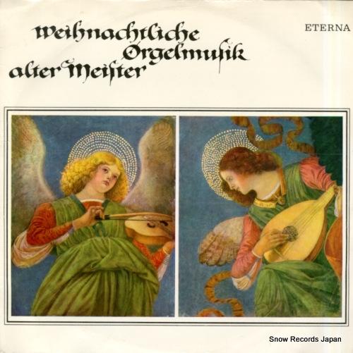 PROST, DIETRICH W. weihnachtliche orgelmusik alter meister 825497 - front cover