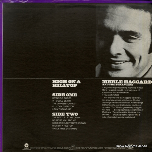 HAGGARD, MERLE high on a hilltop SF-709 - back cover