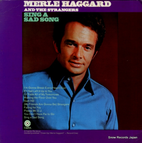 HAGGARD, MERLE sing a sad song SF-708 - front cover