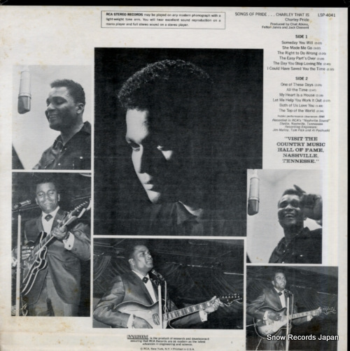 PRIDE, CHARLEY songs of pride...charley that is LSP-4041 - back cover