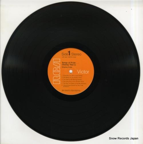 PRIDE, CHARLEY songs of pride...charley that is LSP-4041 - disc