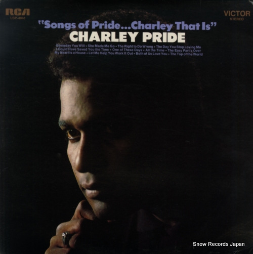 PRIDE, CHARLEY songs of pride...charley that is LSP-4041 - front cover