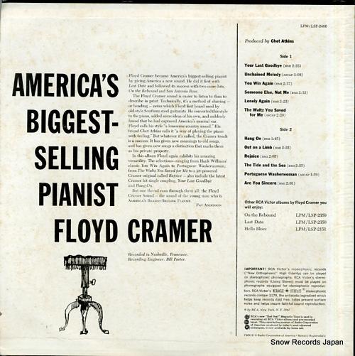 CRAMER, FLOYD america's biggest - selling pianist LSP-2466 - back cover