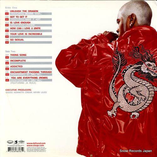SISQO unleash the dragon 314-546816-1 - back cover