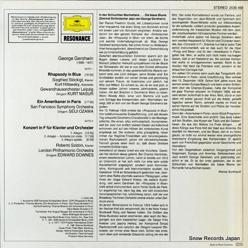 V/A gershwin; rhapsody in blue 2535468 - back cover