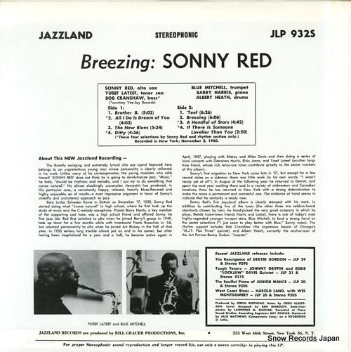 RED, SONNY breezing VIJJ-30047 / JLP932S - back cover