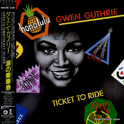 GUTHRIE, GWEN ticket to ride R28D-2108 - front cover