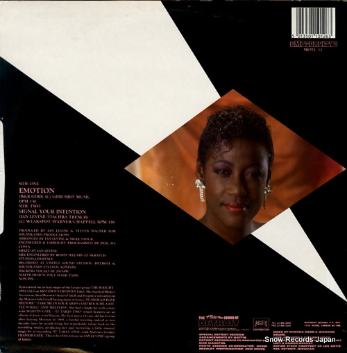 WESTON, KIM emotion MOTC12 - back cover