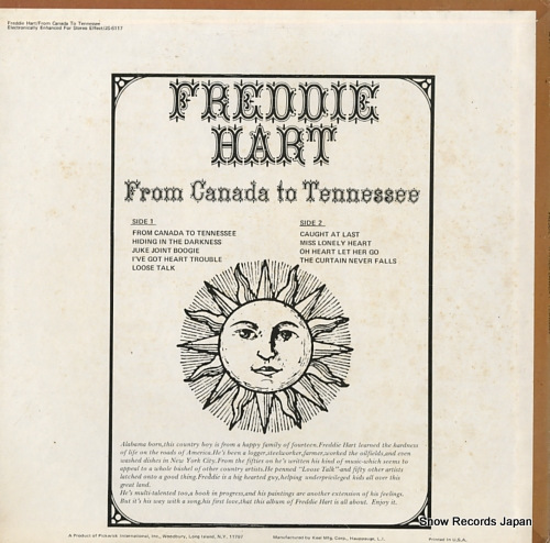 HART, FREDDIE from canada to tennessee JS-6117 - back cover