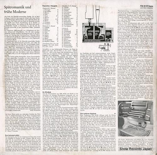 WUNDERLICH, HEINZ die spatromantik-fruhe moderne PSR40521 - back cover